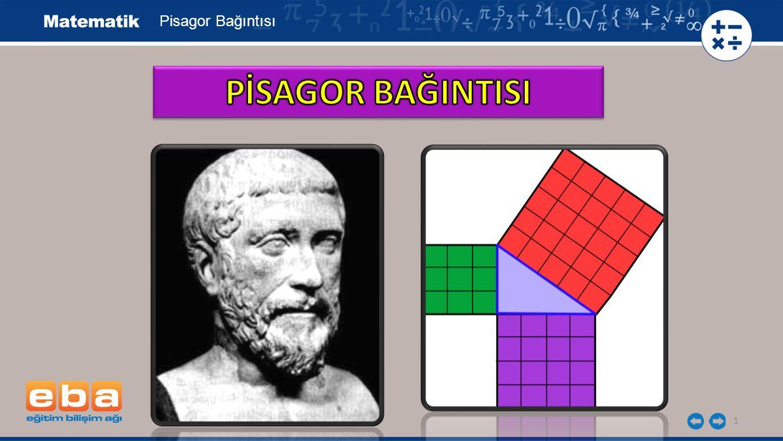 Pisagor Bağıntısı PİSAGOR BAĞINTISI