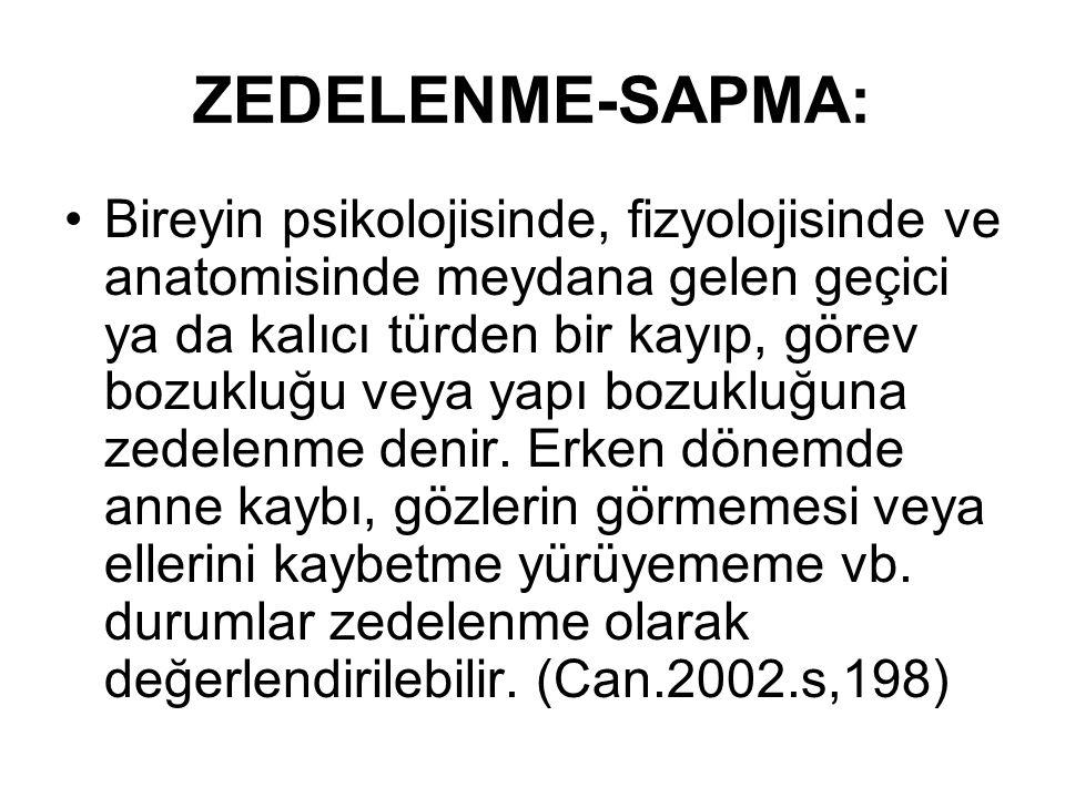 ZEDELENME-SAPMA: