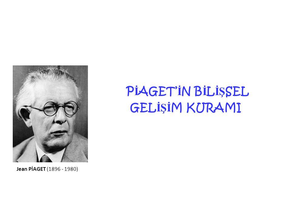 PİAGET'İN BİLİŞSEL GELİŞİM KURAMI