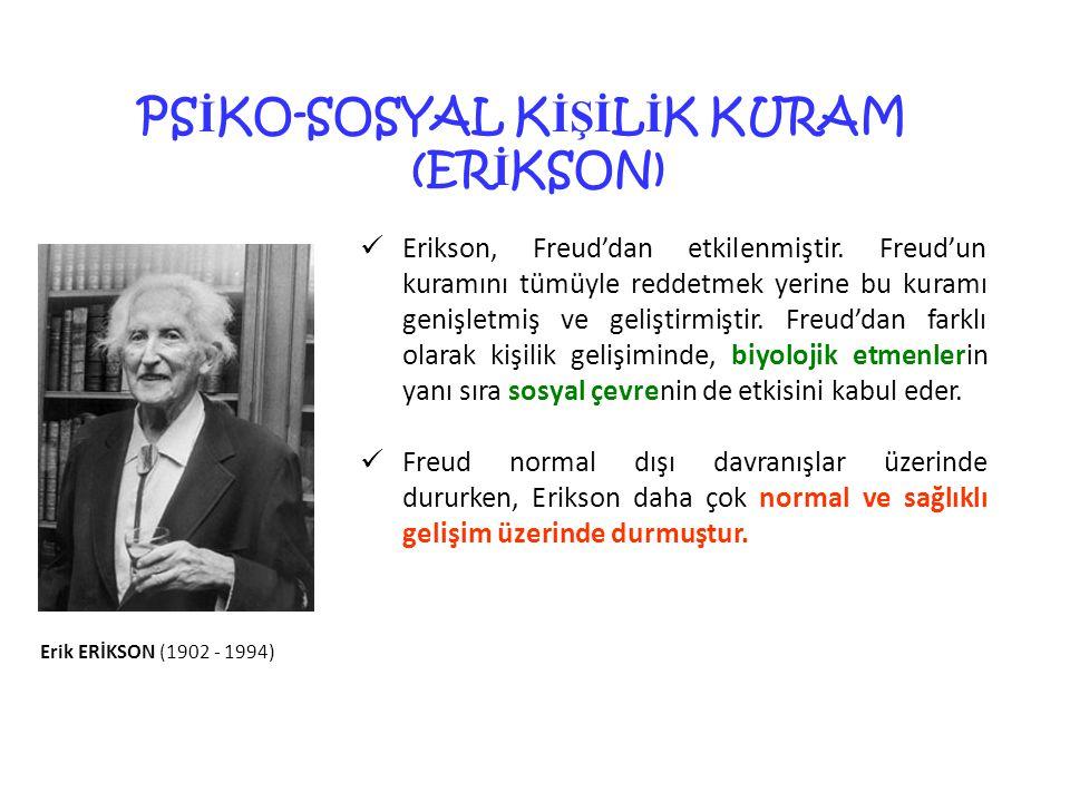PSİKO-SOSYAL KİŞİLİK KURAM (ERİKSON)
