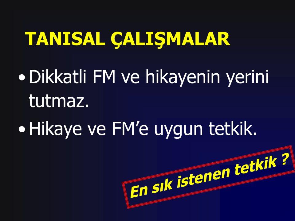 Dikkatli FM ve hikayenin yerini tutmaz. Hikaye ve FM'e uygun tetkik.