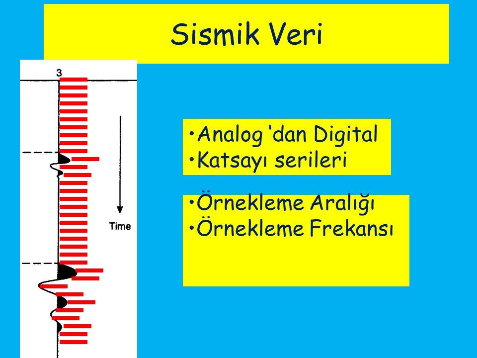 Sismik Veri Analog 'dan Digital Katsayı serileri Örnekleme Aralığı