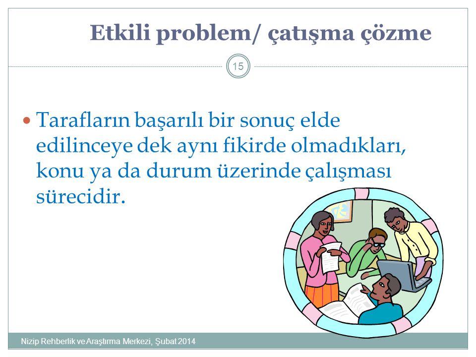 Etkili problem/ çatışma çözme