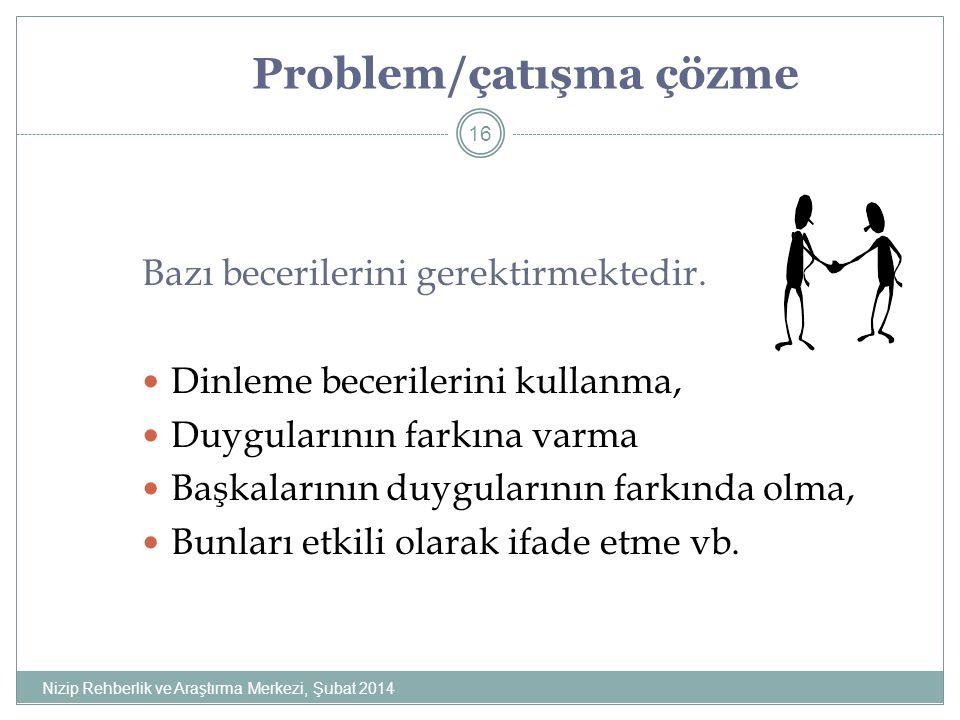Problem/çatışma çözme