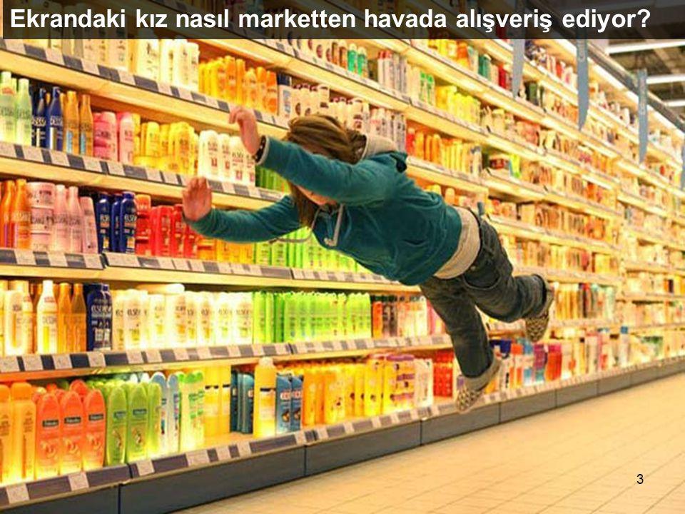 Ekrandaki kız nasıl marketten havada alışveriş ediyor