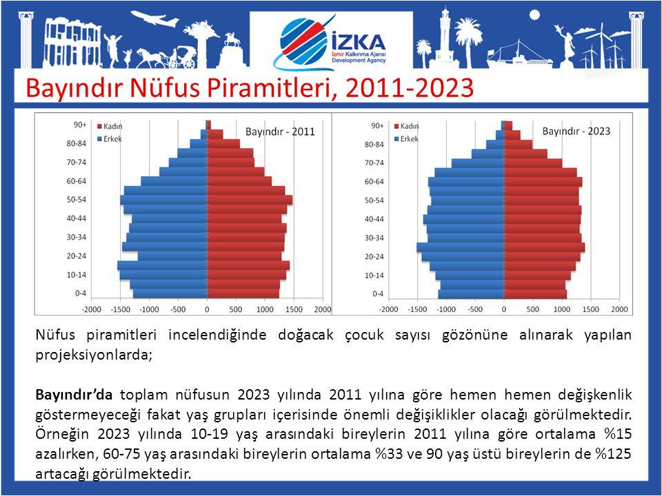Bayındır Nüfus Piramitleri, 2011-2023