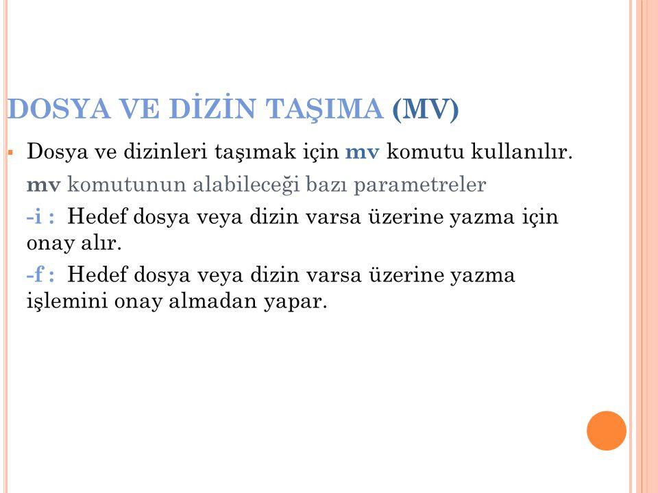 DOSYA VE DİZİN TAŞIMA (MV)