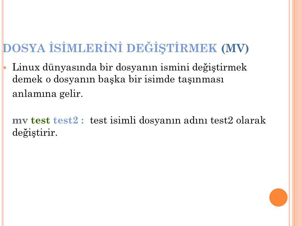 DOSYA İSİMLERİNİ DEĞİŞTİRMEK (MV)