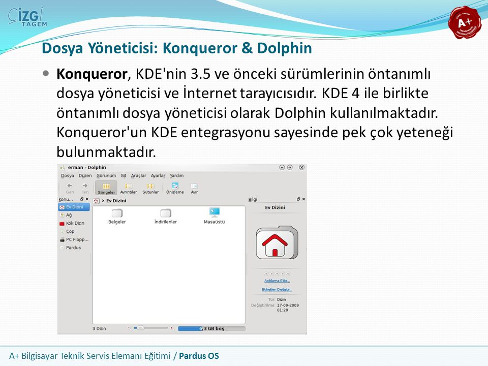 Dosya Yöneticisi: Konqueror & Dolphin