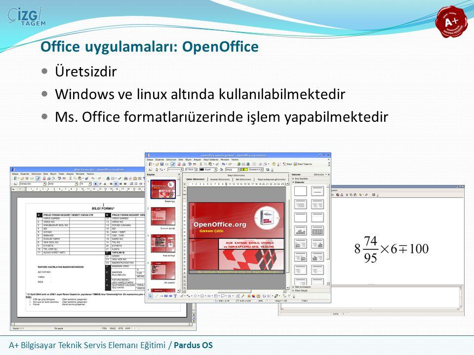 Office uygulamaları: OpenOffice