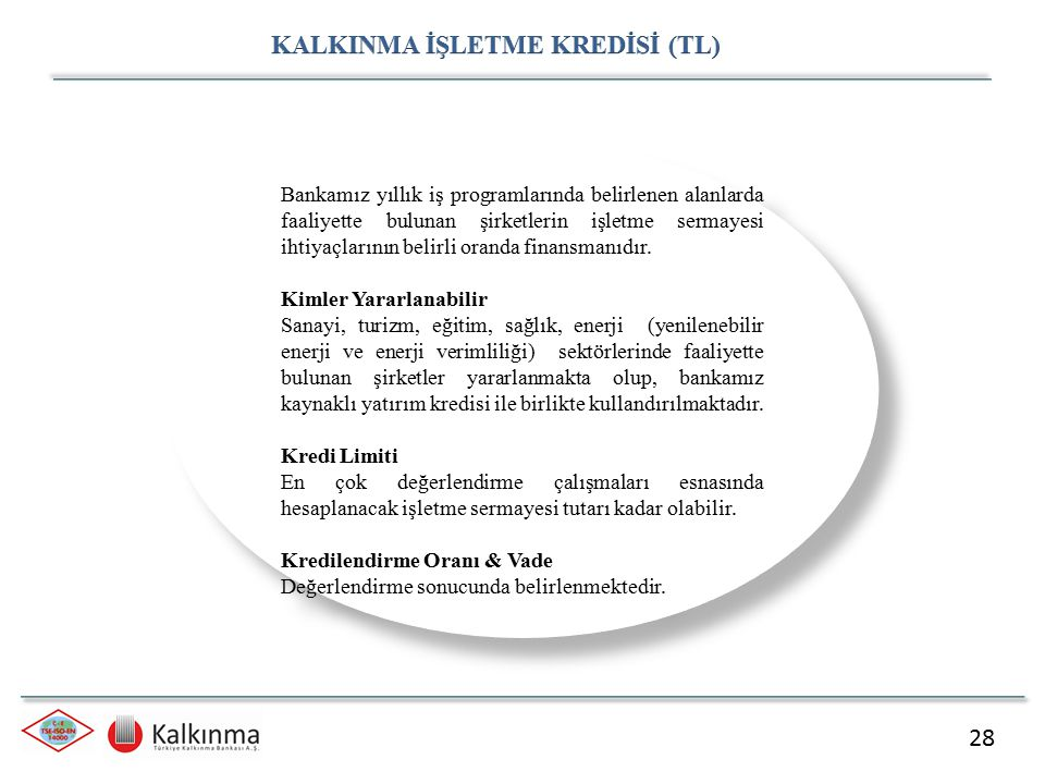 KALKINMA İŞLETME KREDİSİ (TL)