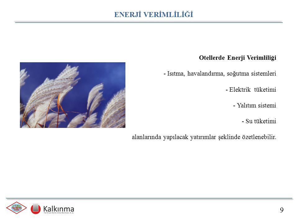 ENERJİ VERİMLİLİĞİ 9 Otellerde Enerji Verimliliği