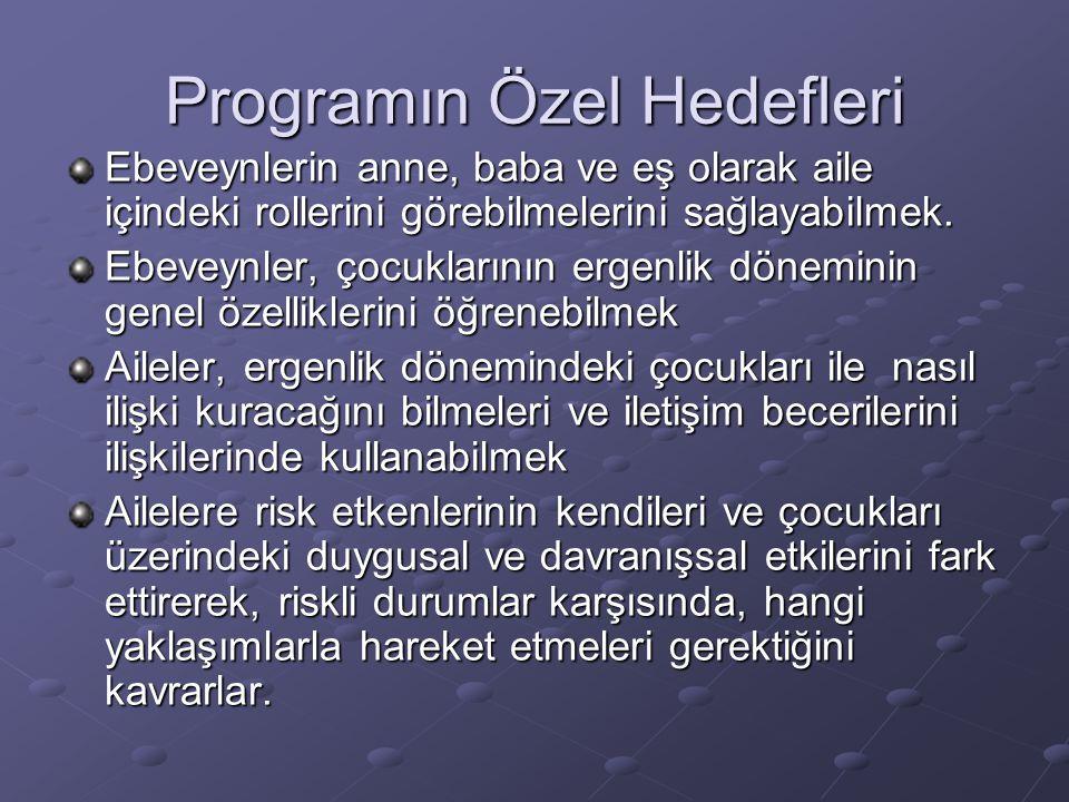 Programın Özel Hedefleri