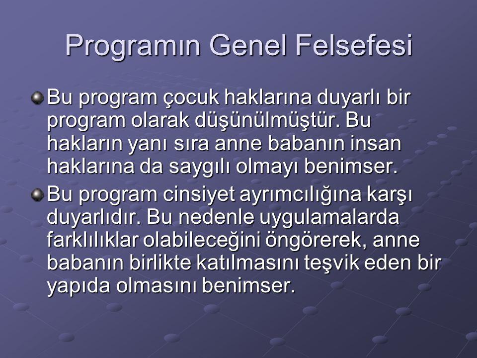 Programın Genel Felsefesi