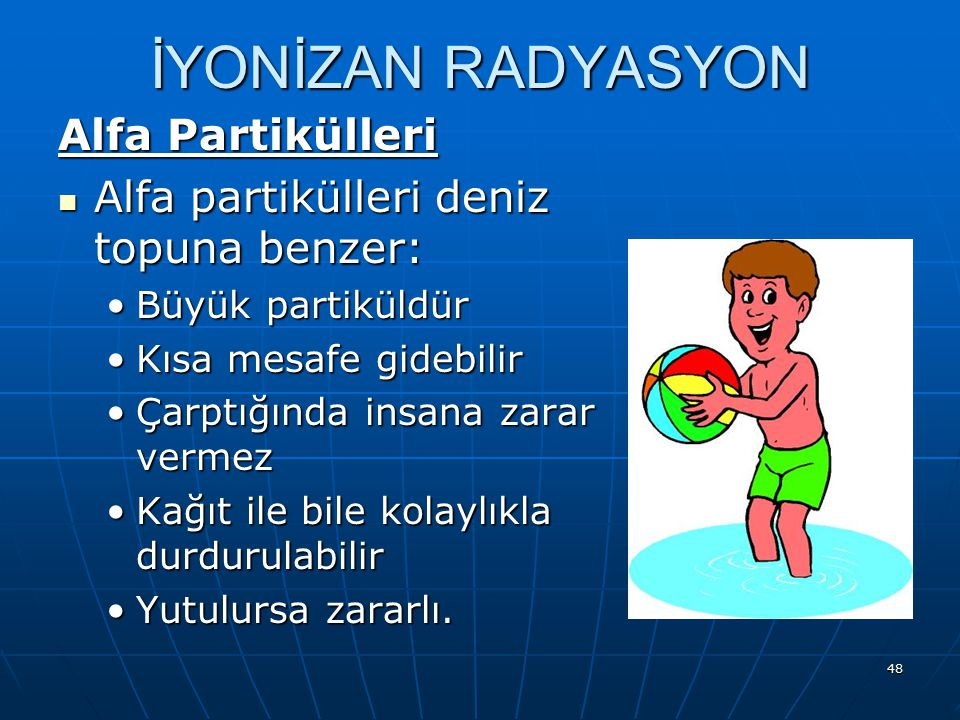 İYONİZAN RADYASYON Alfa Partikülleri