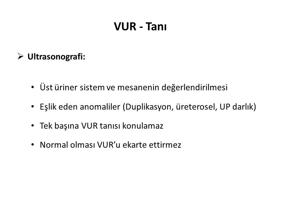 VUR - Tanı Ultrasonografi: