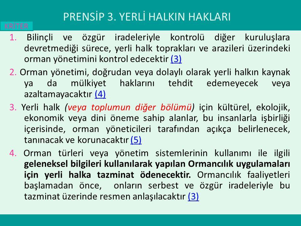 PRENSİP 3. YERLİ HALKIN HAKLARI