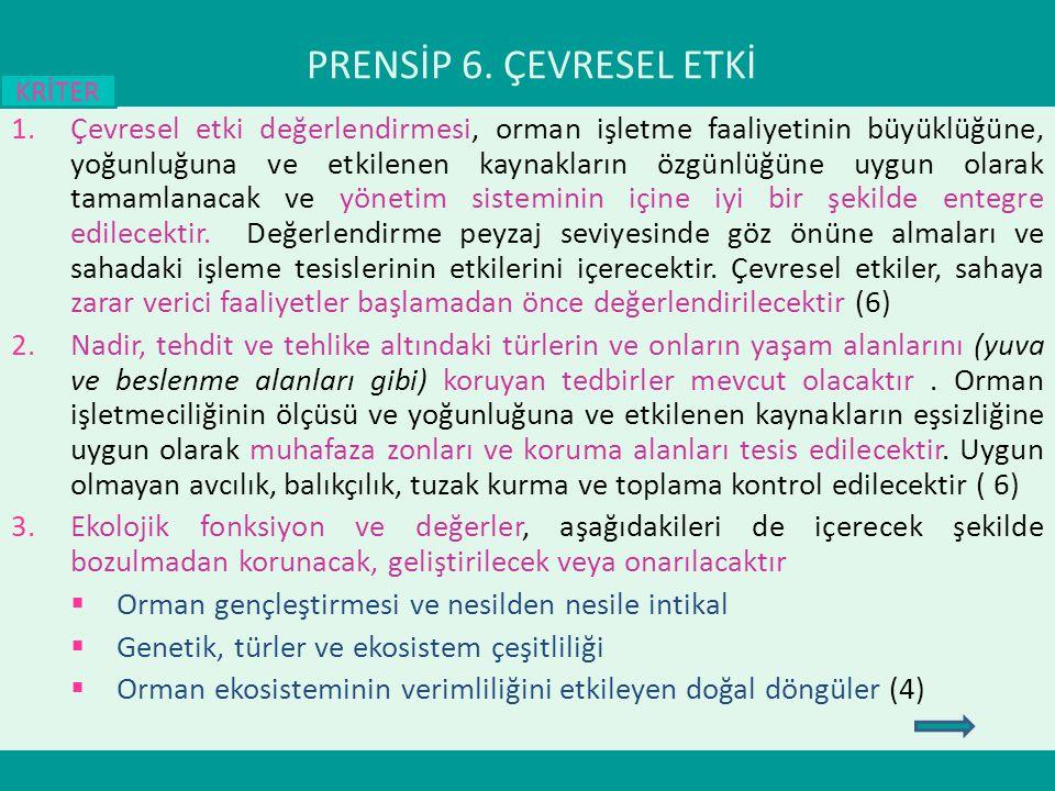 PRENSİP 6. ÇEVRESEL ETKİ KRİTER.