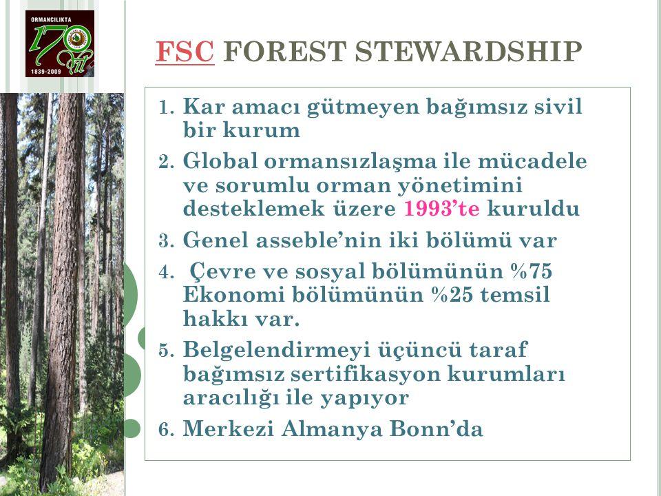FSC FOREST STEWARDSHIP