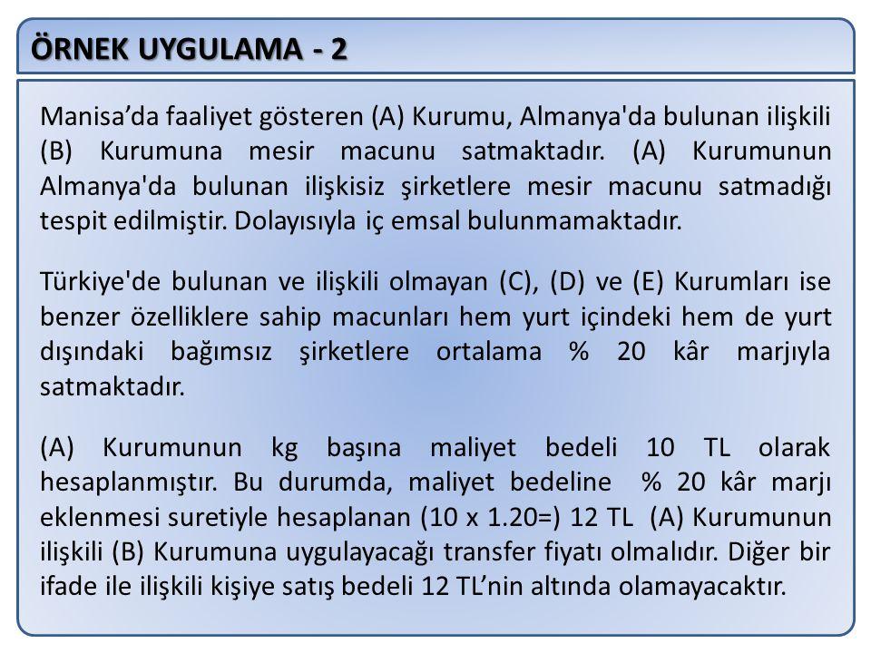 ÖRNEK UYGULAMA - 2