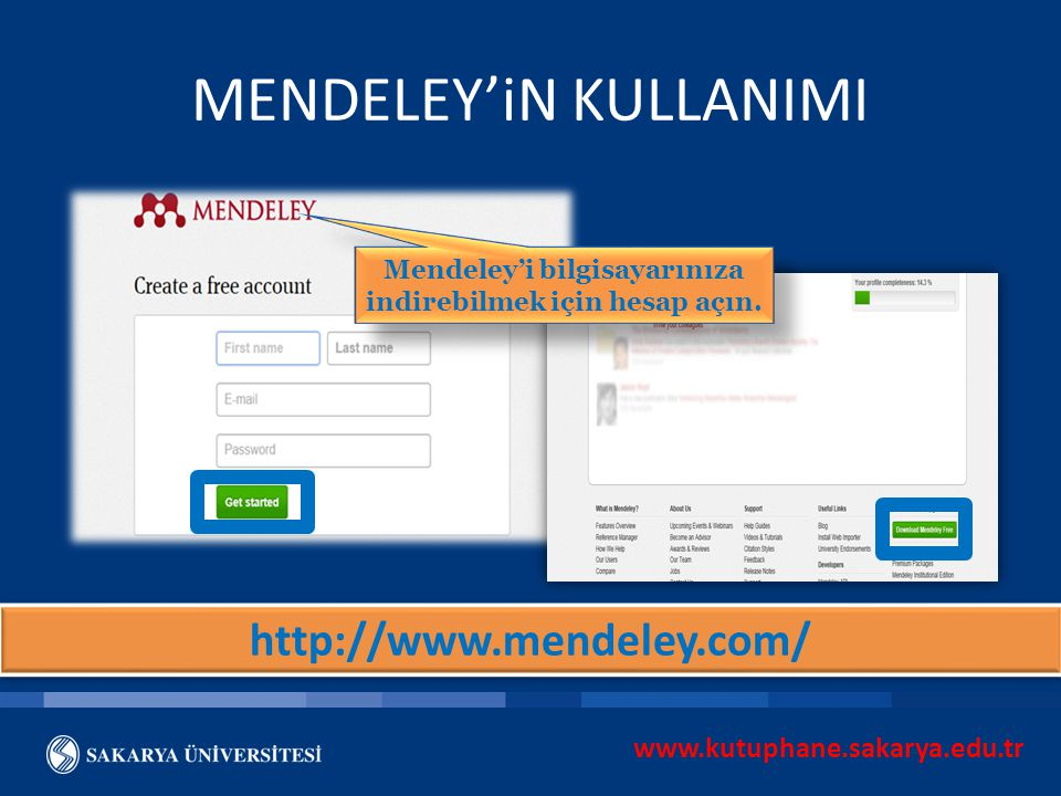 MENDELEY'iN KULLANIMI