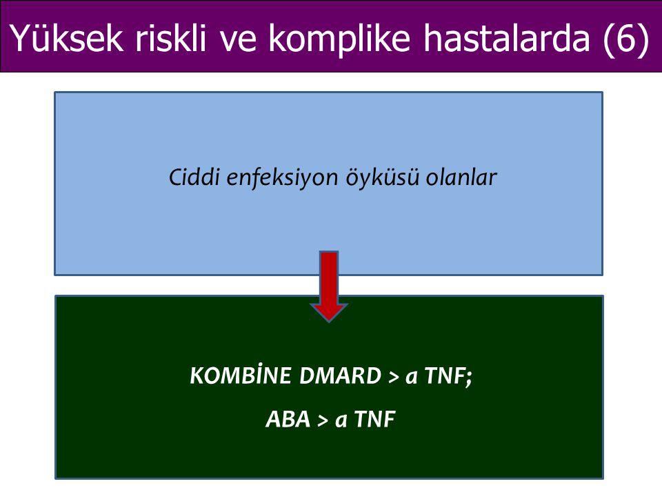 KOMBİNE DMARD > a TNF;