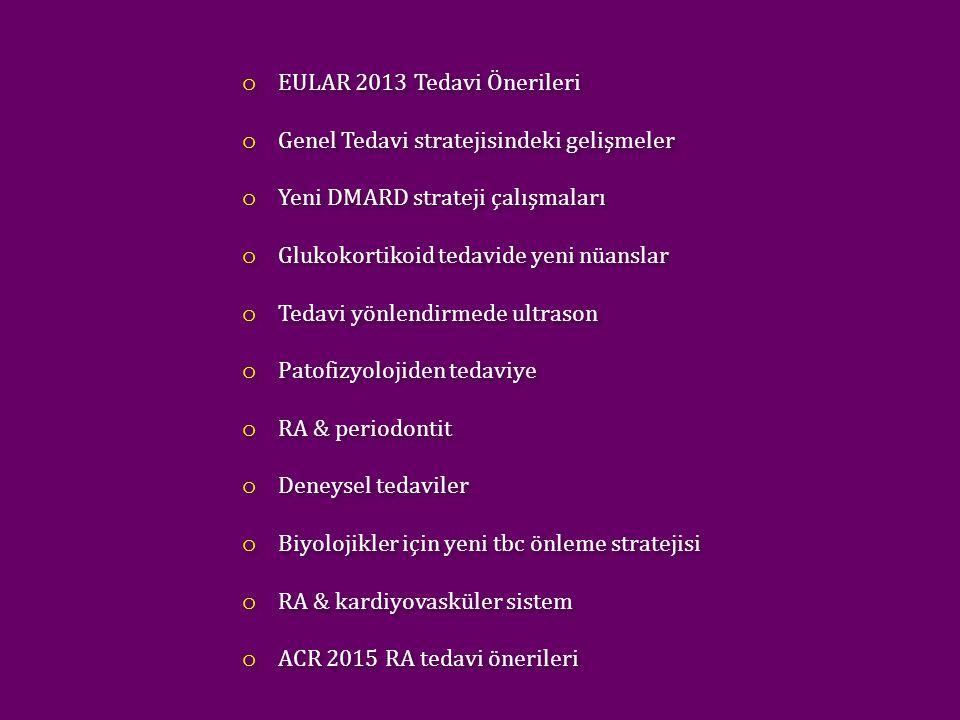 EULAR 2013 Tedavi Önerileri