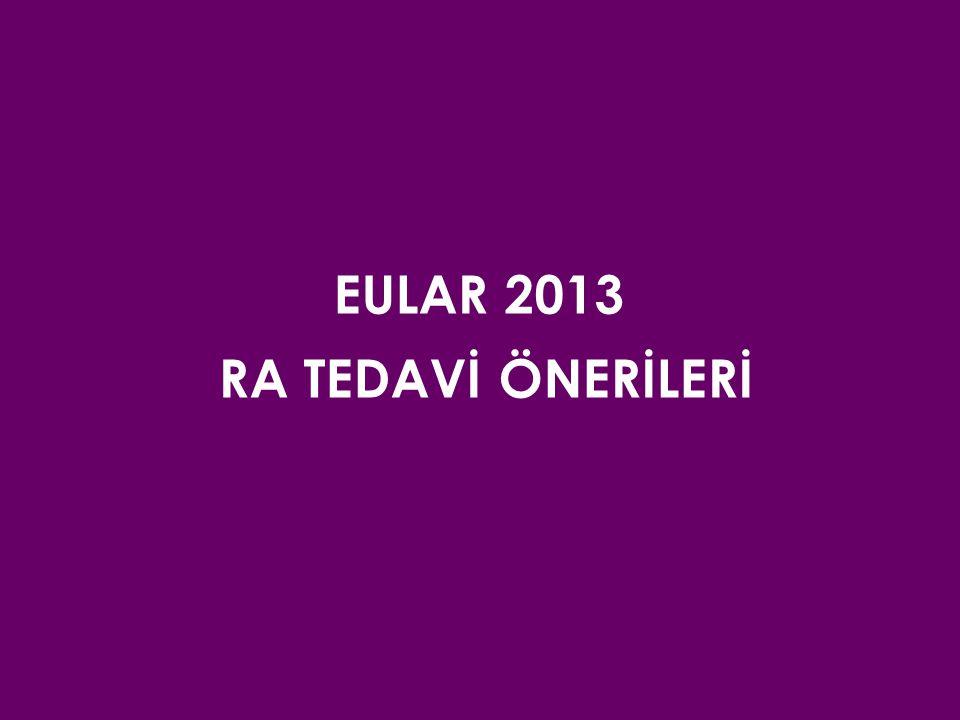 EULAR 2013 RA TEDAVİ ÖNERİLERİ