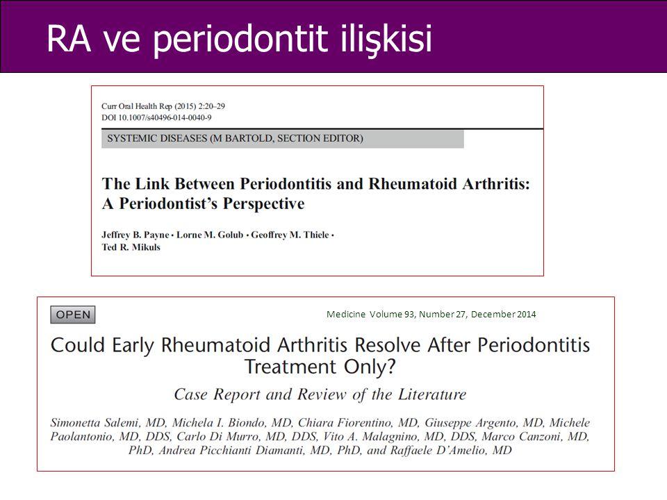 RA ve periodontit ilişkisi