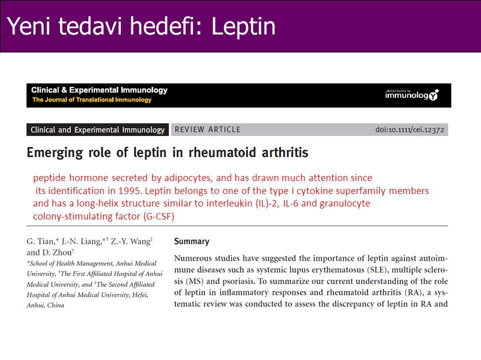 Yeni tedavi hedefi: Leptin