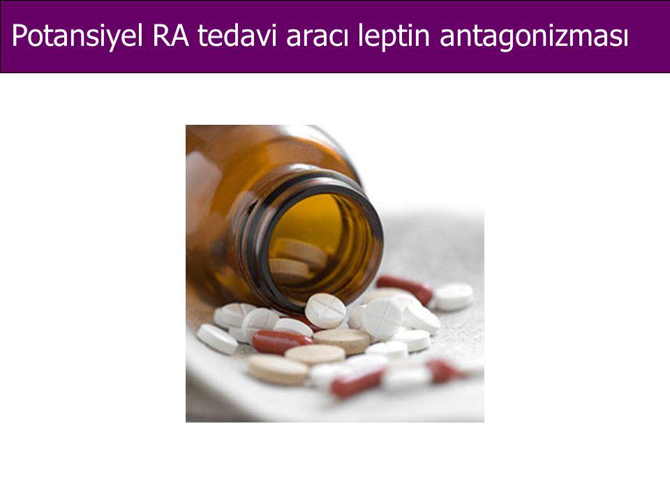Potansiyel RA tedavi aracı leptin antagonizması
