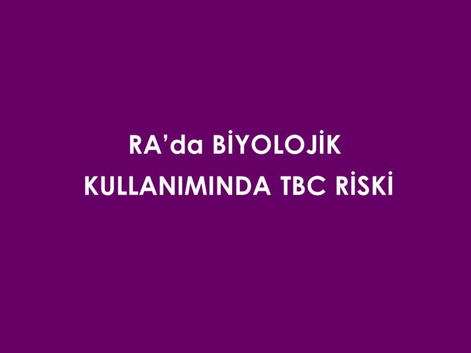 KULLANIMINDA TBC RİSKİ
