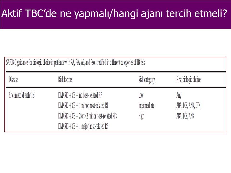 Aktif TBC'de ne yapmalı/hangi ajanı tercih etmeli