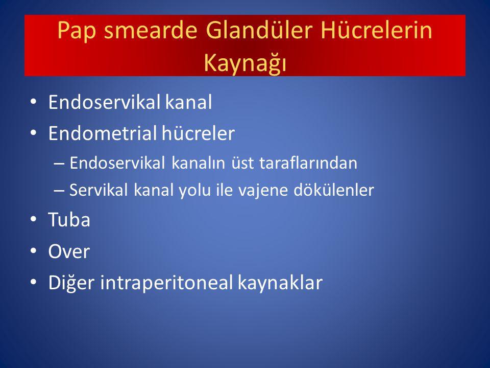 Pap smearde Glandüler Hücrelerin Kaynağı