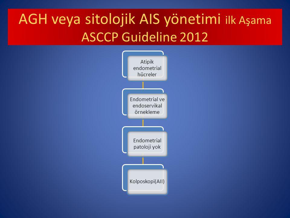AGH veya sitolojik AIS yönetimi ilk Aşama ASCCP Guideline 2012