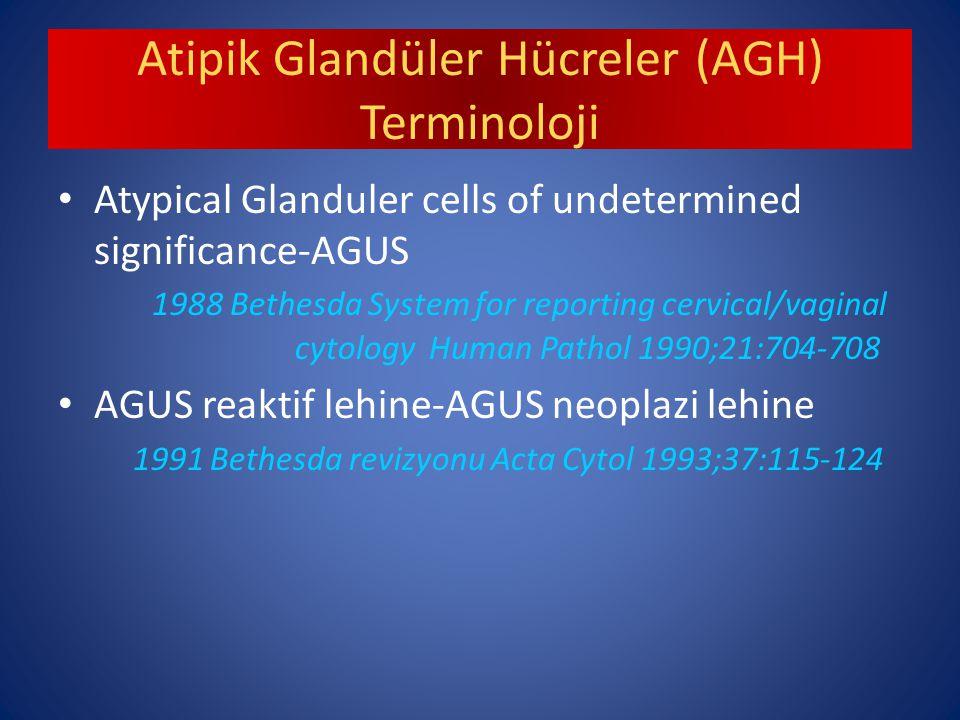 Atipik Glandüler Hücreler (AGH) Terminoloji
