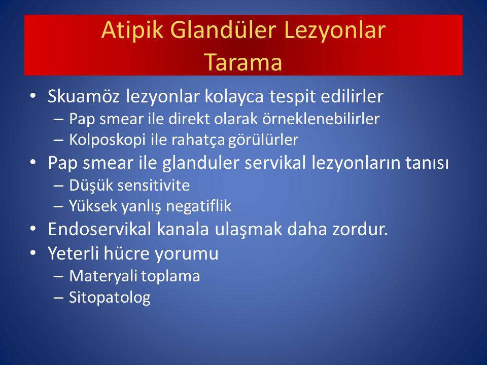 Atipik Glandüler Lezyonlar Tarama