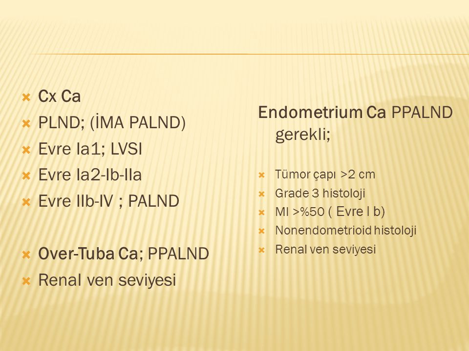 Endometrium Ca PPALND gerekli;