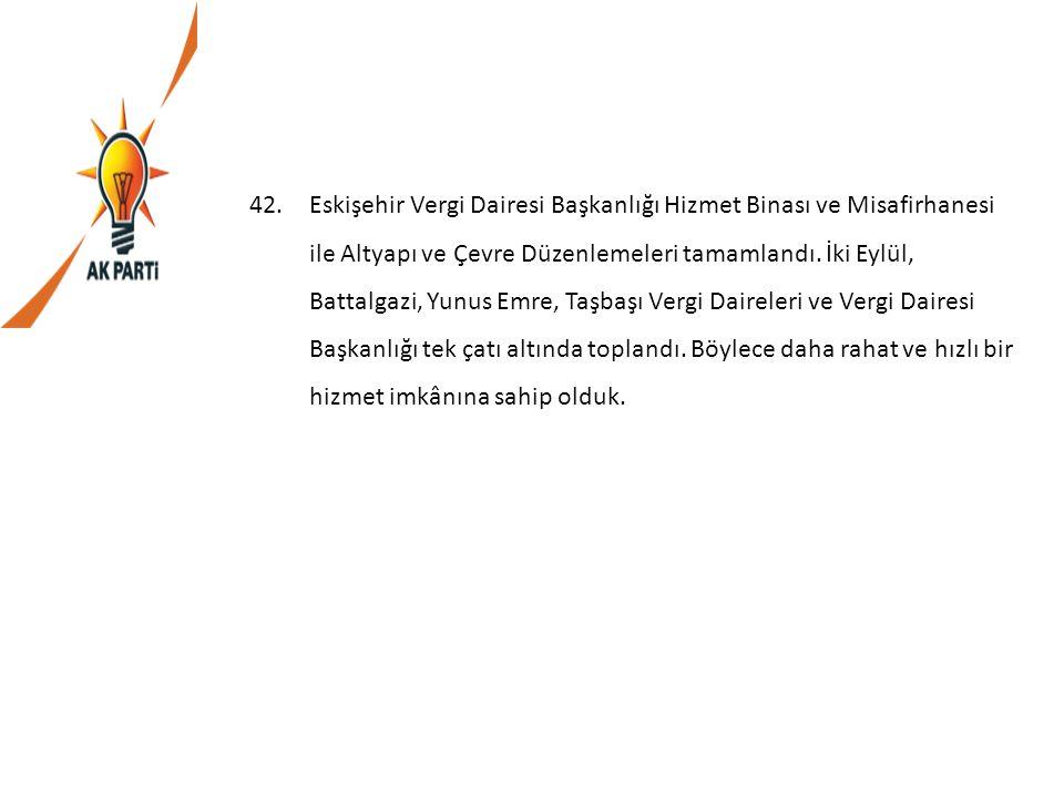 Eskişehir Vergi Dairesi Başkanlığı Hizmet Binası ve Misafirhanesi ile Altyapı ve Çevre Düzenlemeleri tamamlandı.