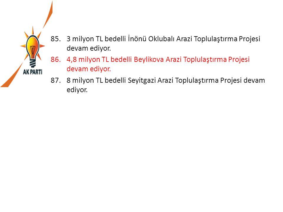 3 milyon TL bedelli İnönü Oklubalı Arazi Toplulaştırma Projesi devam ediyor.