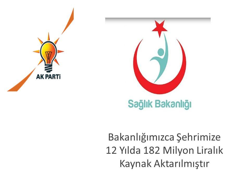 Bakanlığımızca Şehrimize 12 Yılda 182 Milyon Liralık Kaynak Aktarılmıştır