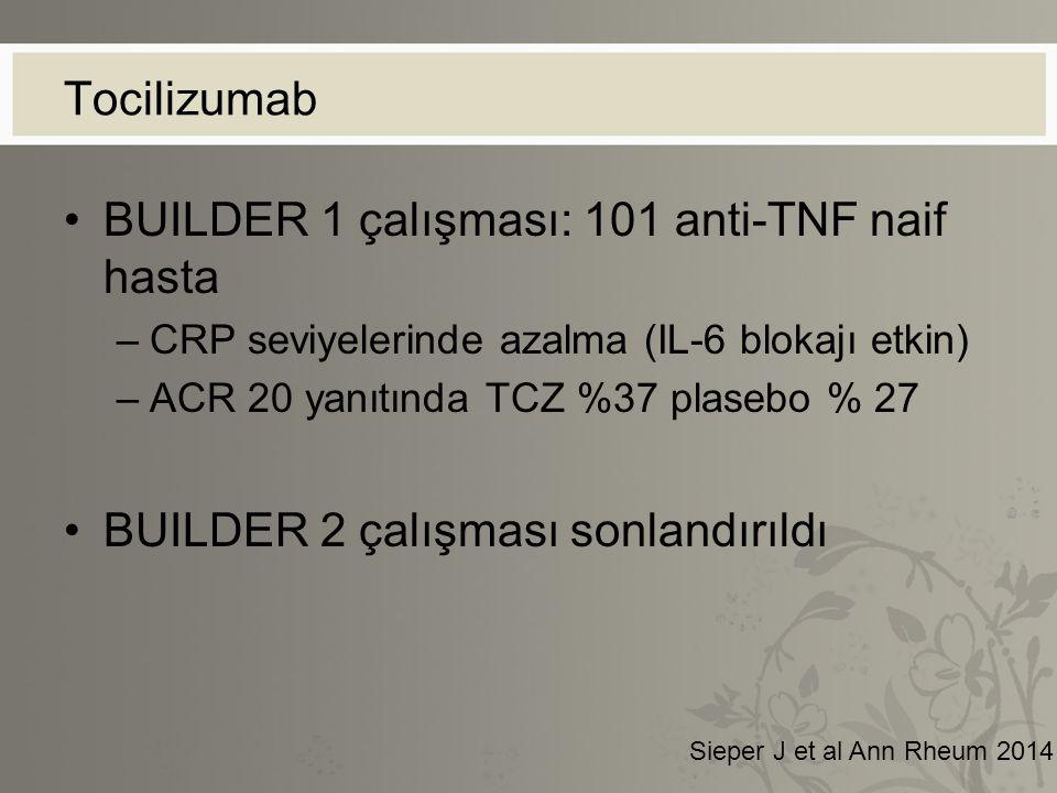 BUILDER 1 çalışması: 101 anti-TNF naif hasta