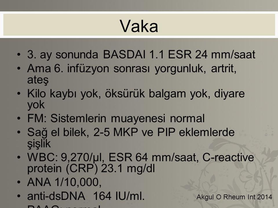 Vaka 3. ay sonunda BASDAI 1.1 ESR 24 mm/saat