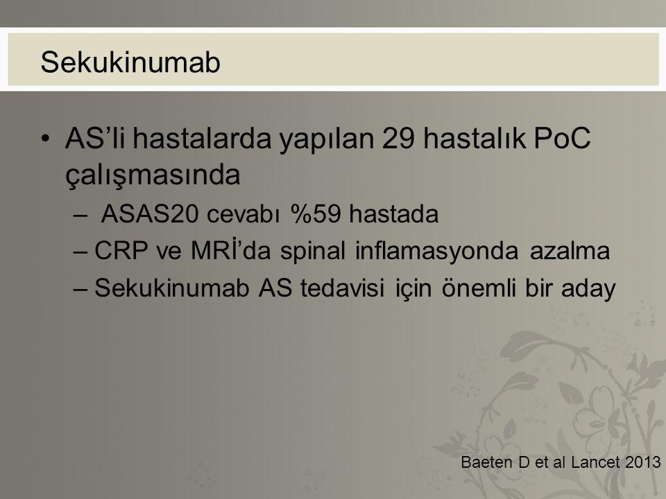 AS'li hastalarda yapılan 29 hastalık PoC çalışmasında
