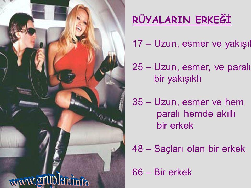 www.gruplar.info RÜYALARIN ERKEĞİ 17 – Uzun, esmer ve yakışıklı