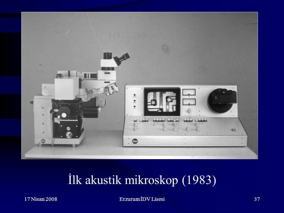 İlk akustik mikroskop (1983)