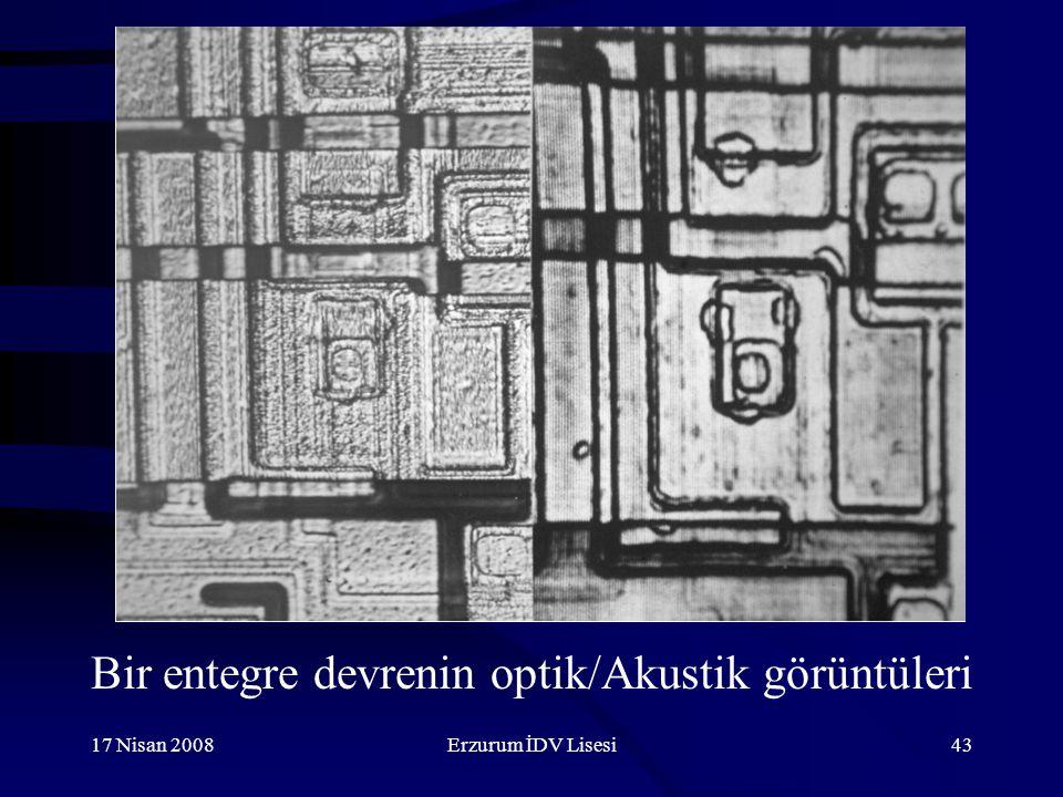 Bir entegre devrenin optik/Akustik görüntüleri