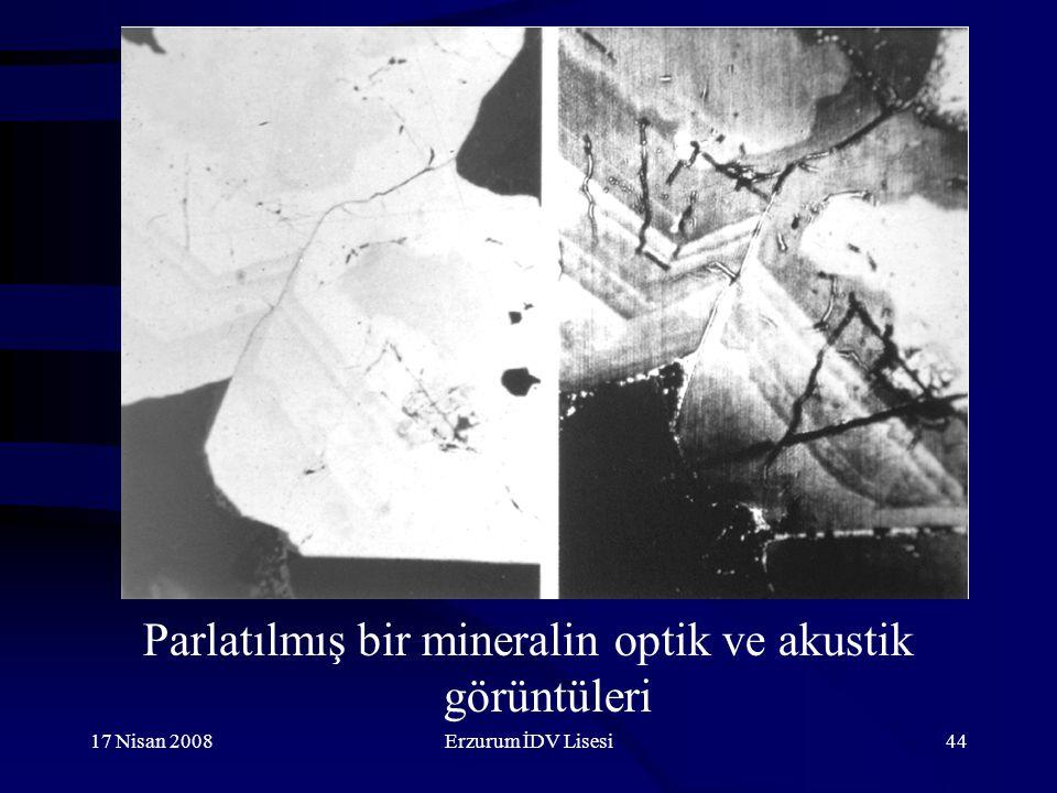 Parlatılmış bir mineralin optik ve akustik görüntüleri