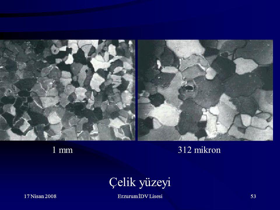 1 mm 312 mikron Çelik yüzeyi 17 Nisan 2008 Erzurum İDV Lisesi