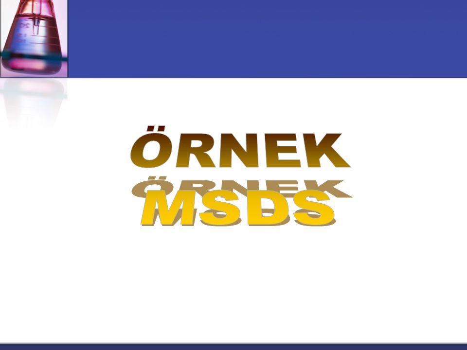 ÖRNEK MSDS